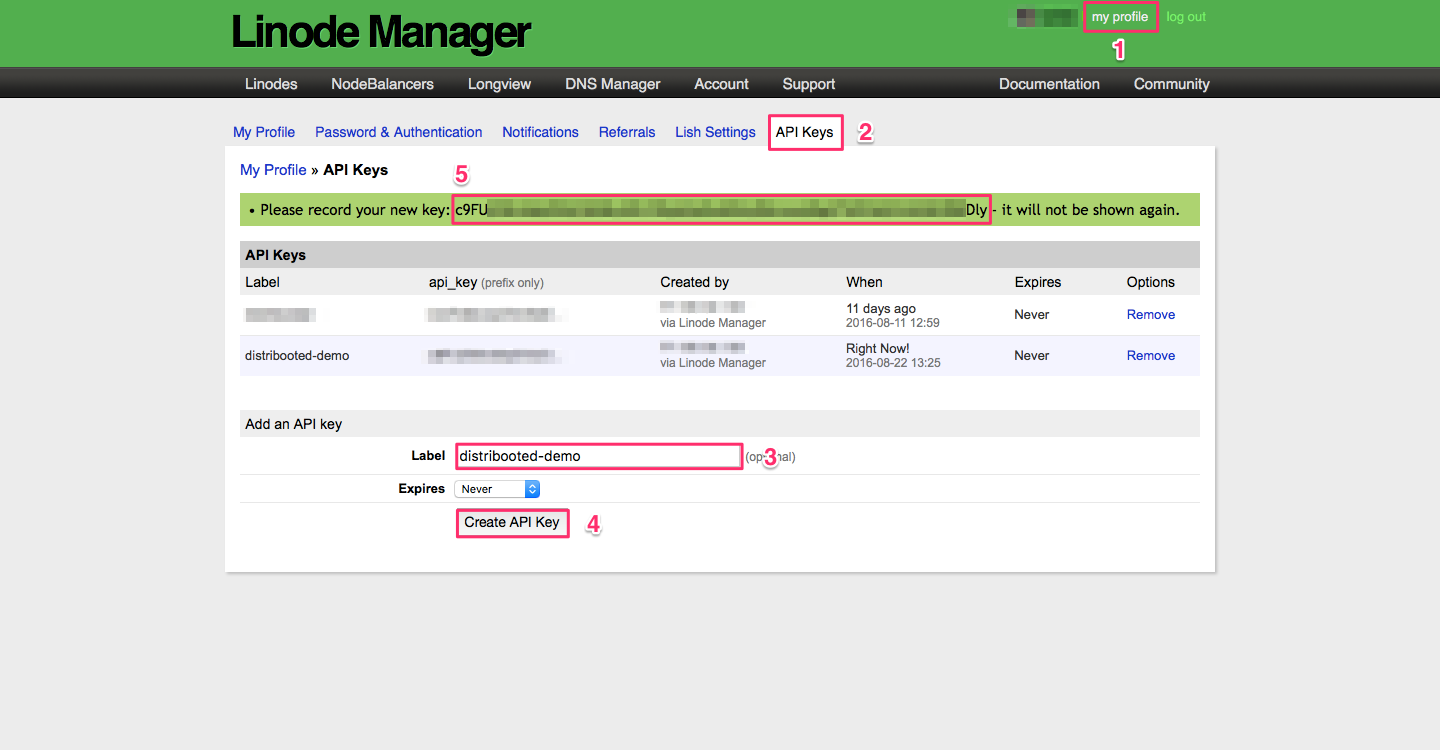 Linode Screenshot